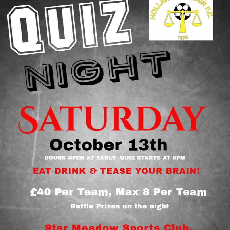 Hollands & Blair Quiz Night
