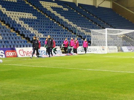 Under 14s Ball boys at Gillingham EFL trophy game v Crawley