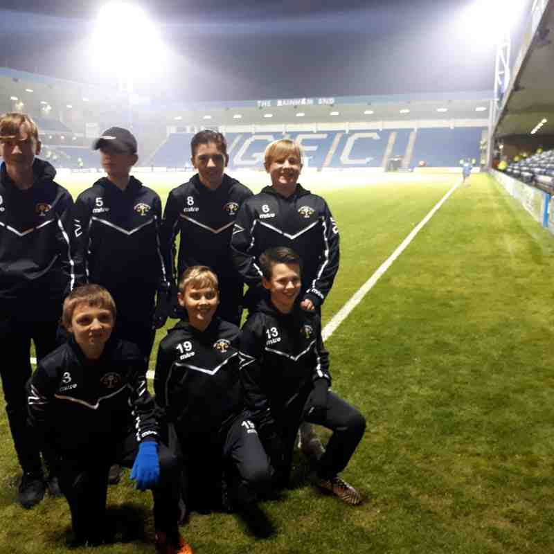 Under 13s Ball boys for Gillingham vs Luton Town