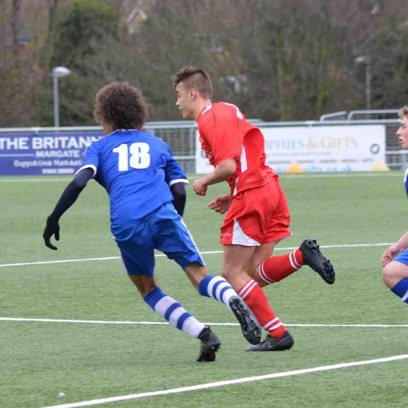 U18s Margate Away
