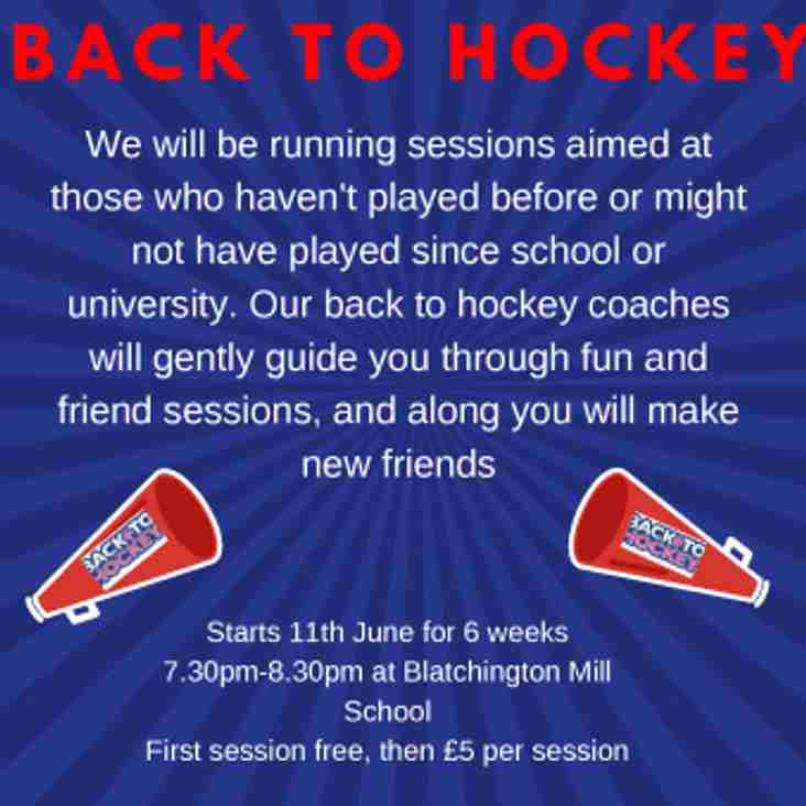 Back to Hockey - join in the summer fun