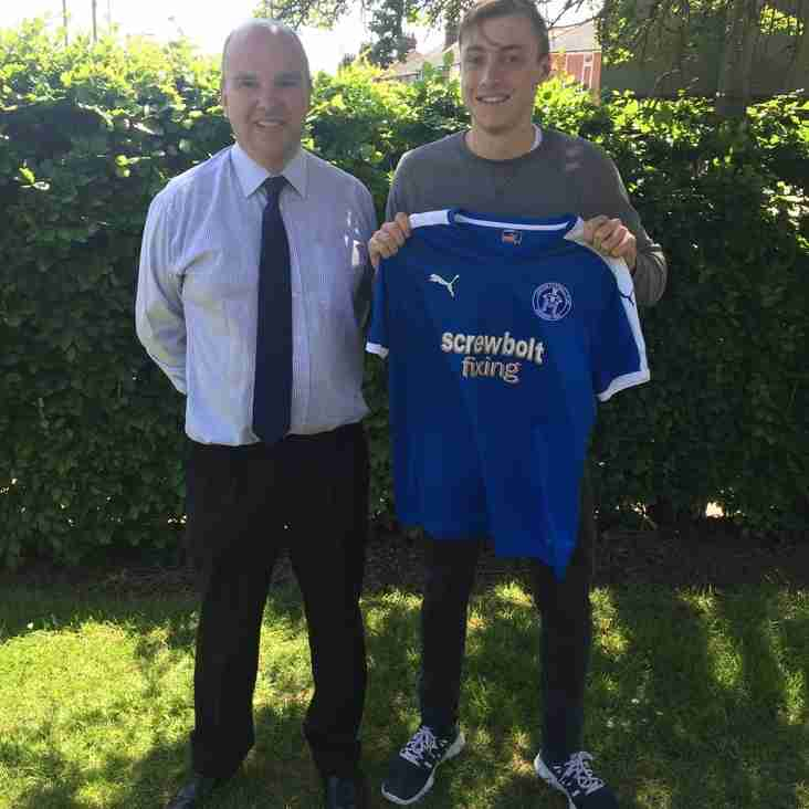 Blues secure exciting young striker signature