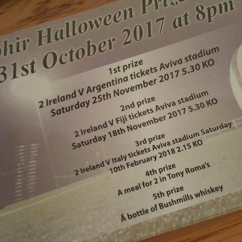 Ophir Halloween Ballot - The Winners!