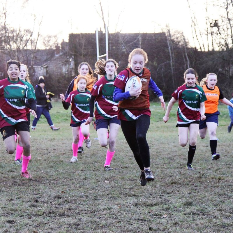 Girls Rugby Growing at Moortown
