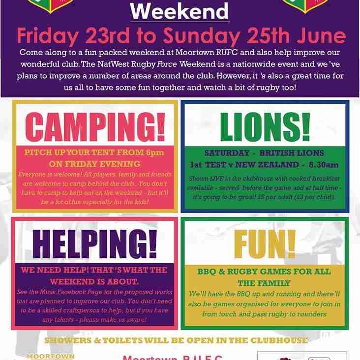NatWest RugbyForce Weekend Coming Soon!