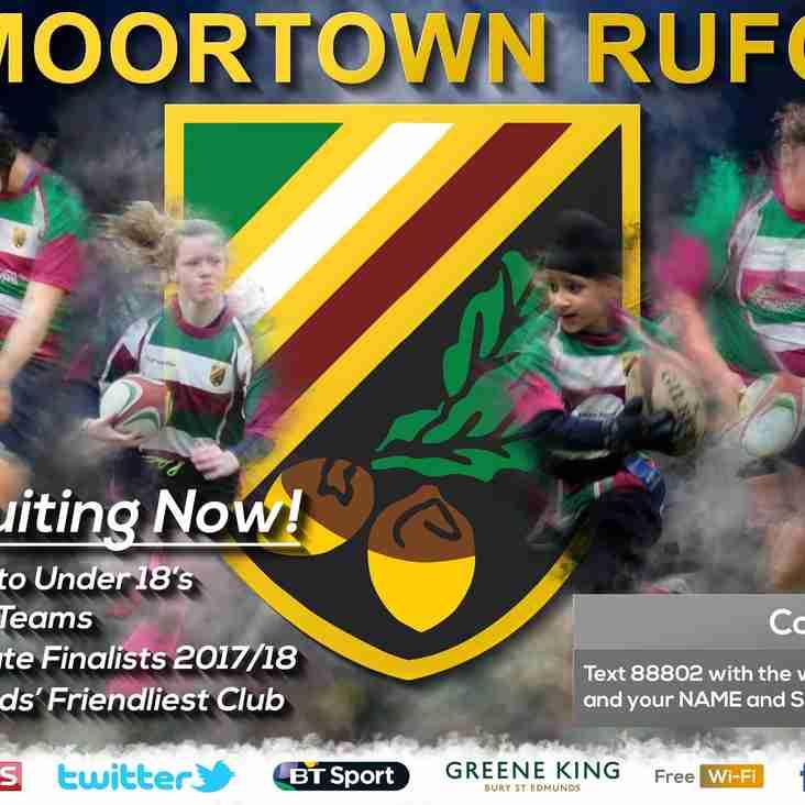 Moortown Mini & Juniors are Recruiting!