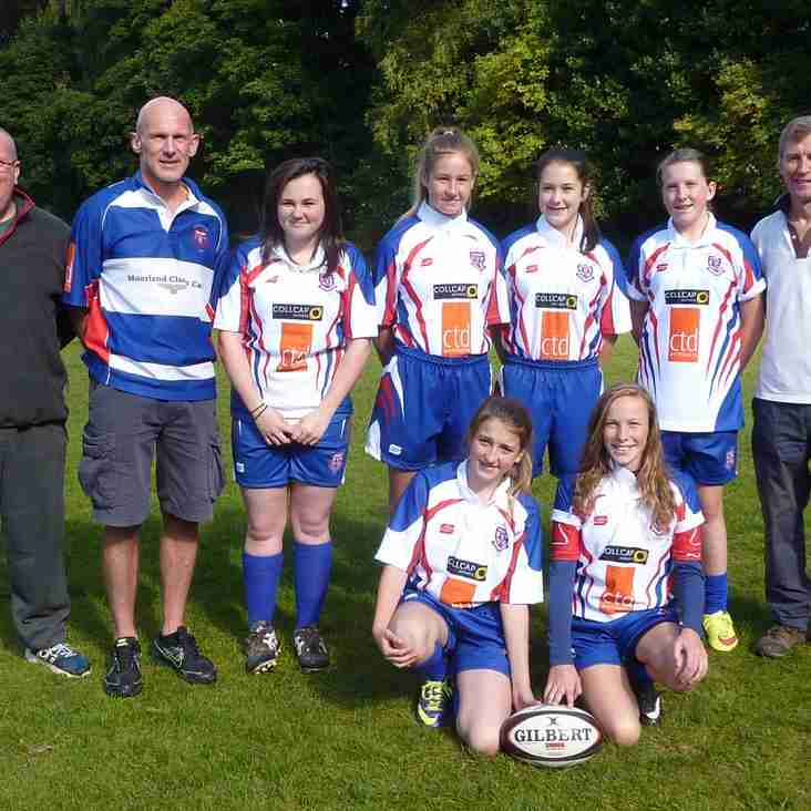 U15 Girls try-out their new kit