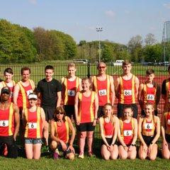 Spen Track & Field Senior Team at Blackurn