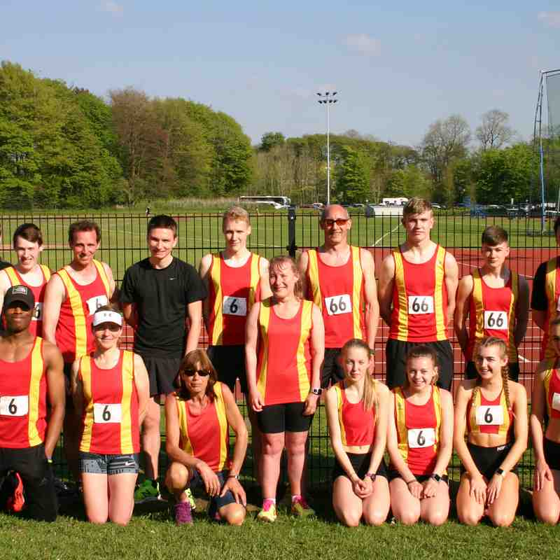 Spen Track & Field Senior Team at Blackurn