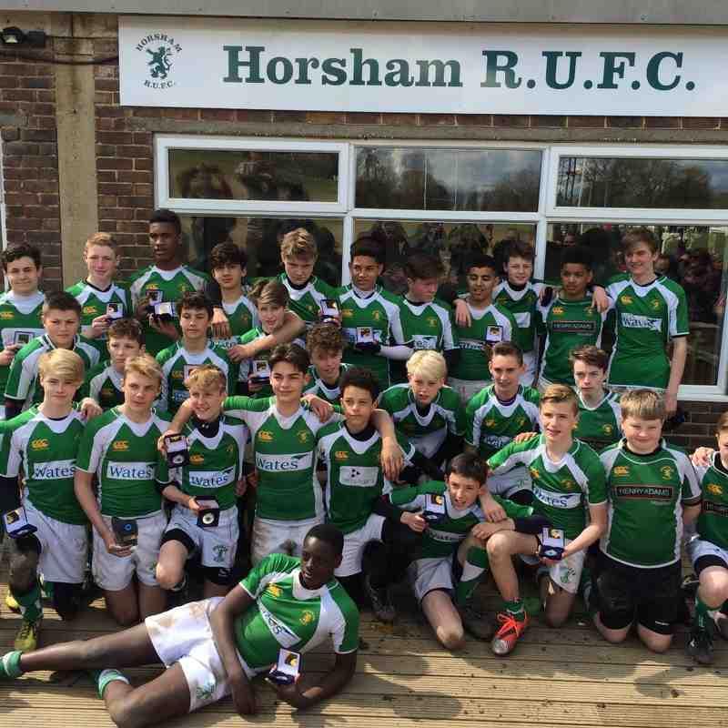 West Sussex U14's Cup Winners 2016.