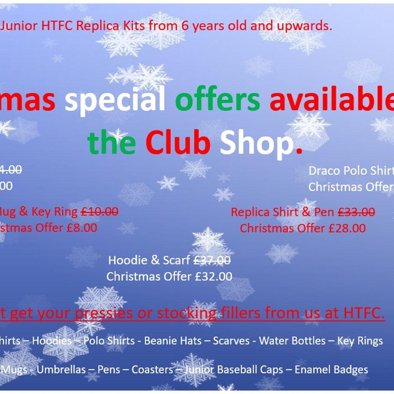 Christmas Shopping at The HTFC Club Shop