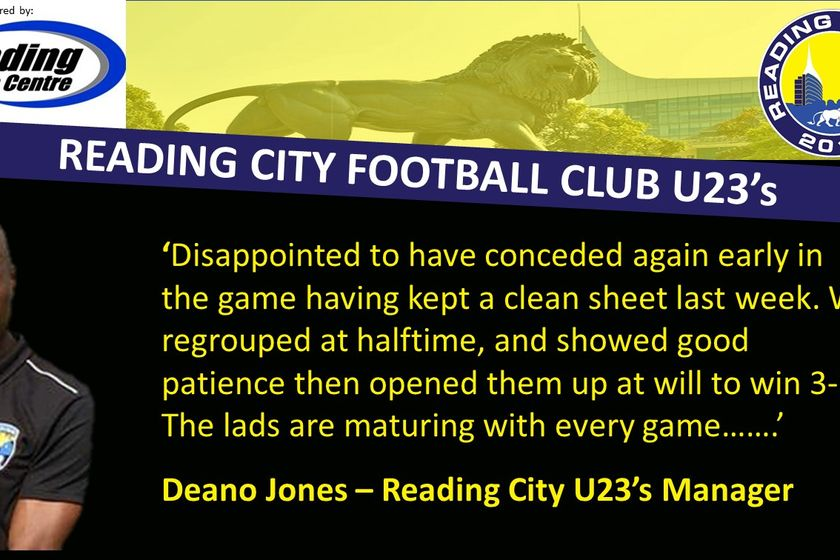 Time to hear from Reading City U23's Manager