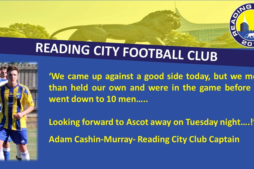 Club Captain Adam Cashin-Murray sees the positives from today's game...