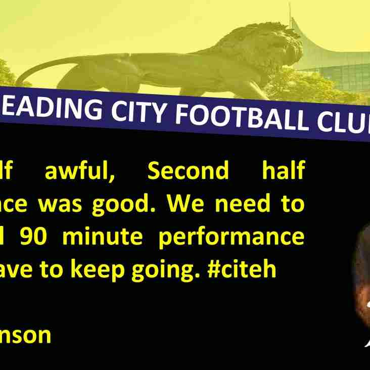 The Gaffer has his say....