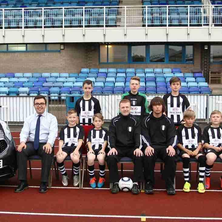 Victor Wood Kia Support Grantham Town U13's