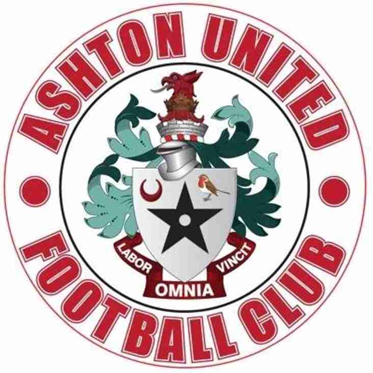 Ashton United Are Coming To Town!