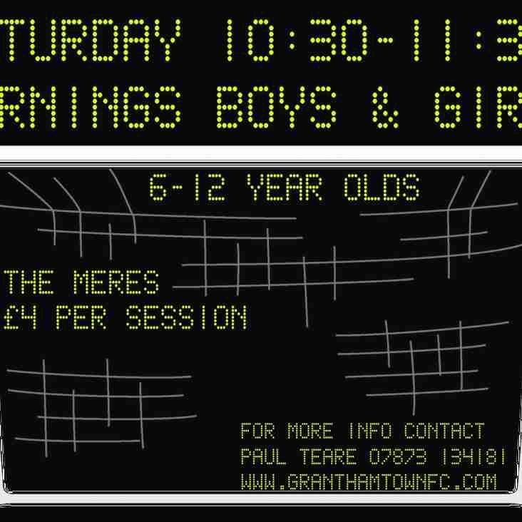 Grantham Town Soccer School Returns this Saturday!