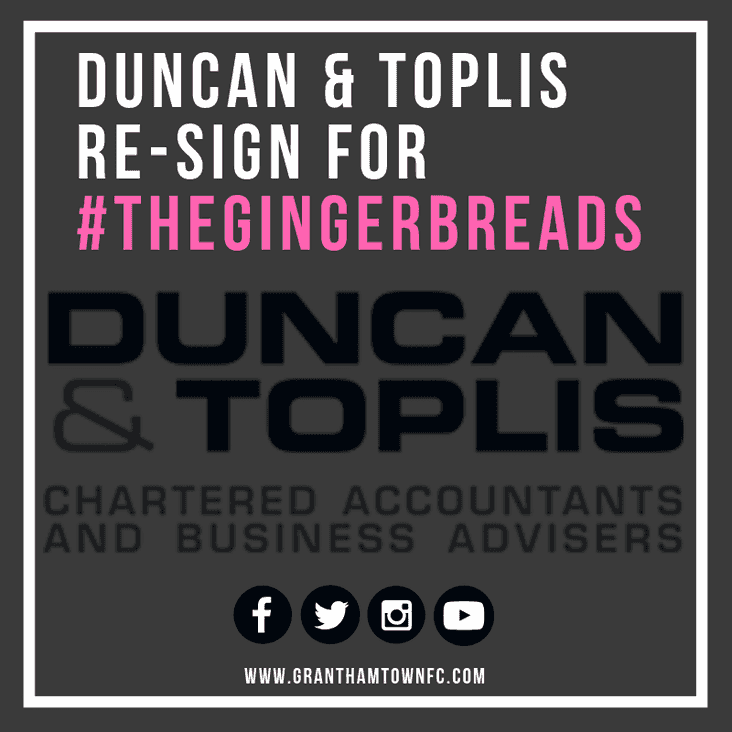 The Gingerbreads Re-sign Duncan & Toplis