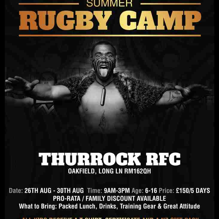 New Zealand Rugby Experience Camp 2019