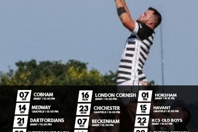 London 1 South Fixtures released