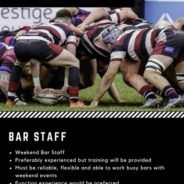 JOB VACANCIES - BAR STAFF