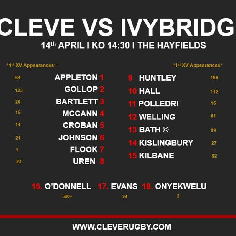 Cleve Team named for Ivybridge Clash