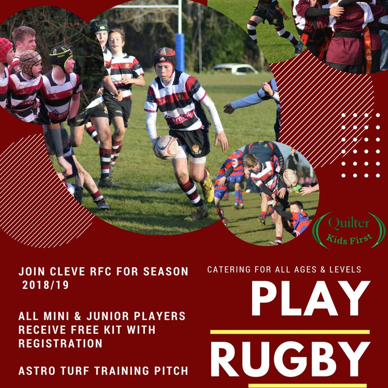 PLAY YOUTH RUGBY @ CLEVE RFC