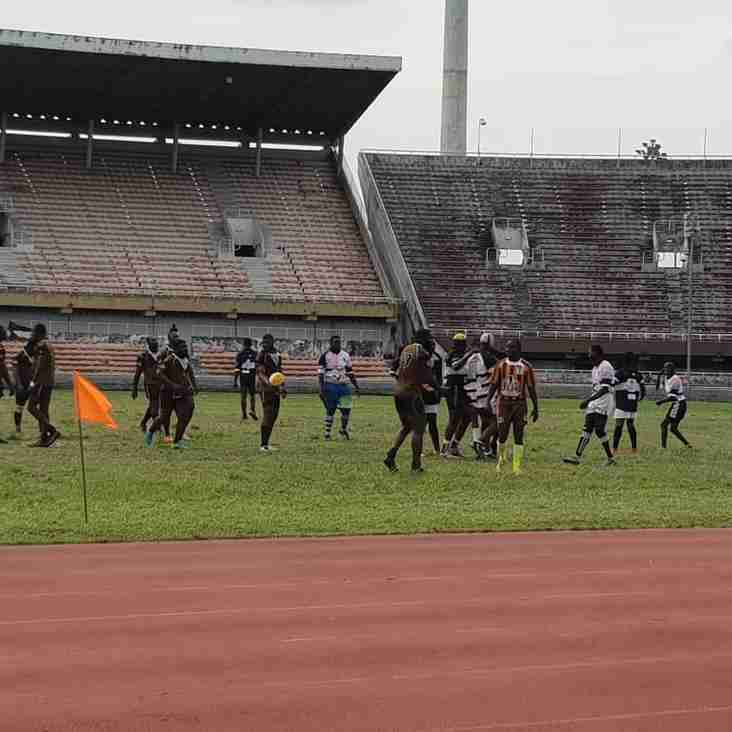 Lagos Rugby Union Men's League Christian Ogar runs in two tries as Cowries power past Racing