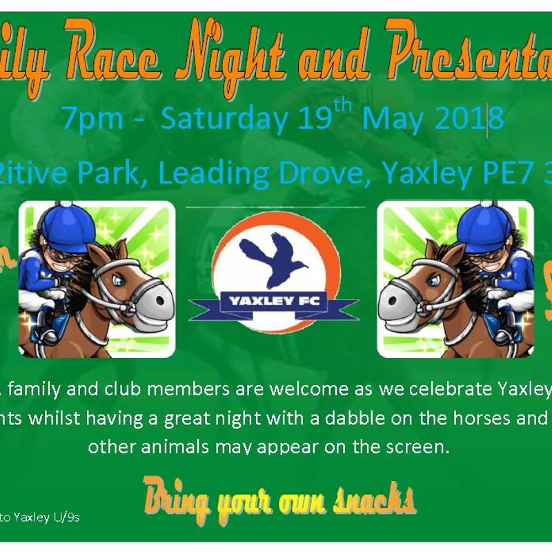 Under 9's Fund Raising Race Night