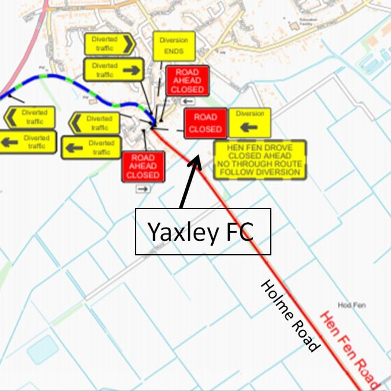 Road Closure - Business As Usual at Yaxley FC