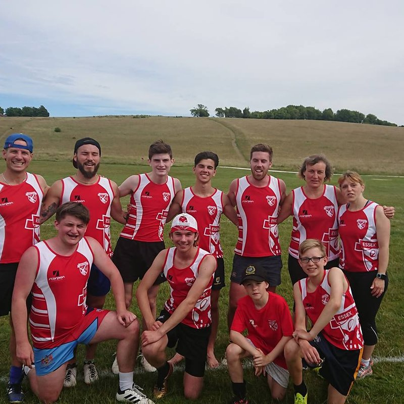 Players coming together to play as Essex Touch at Royston Festival