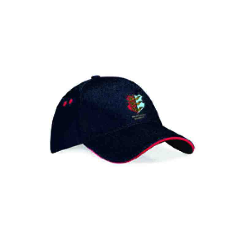 Black Cap with Red Trim