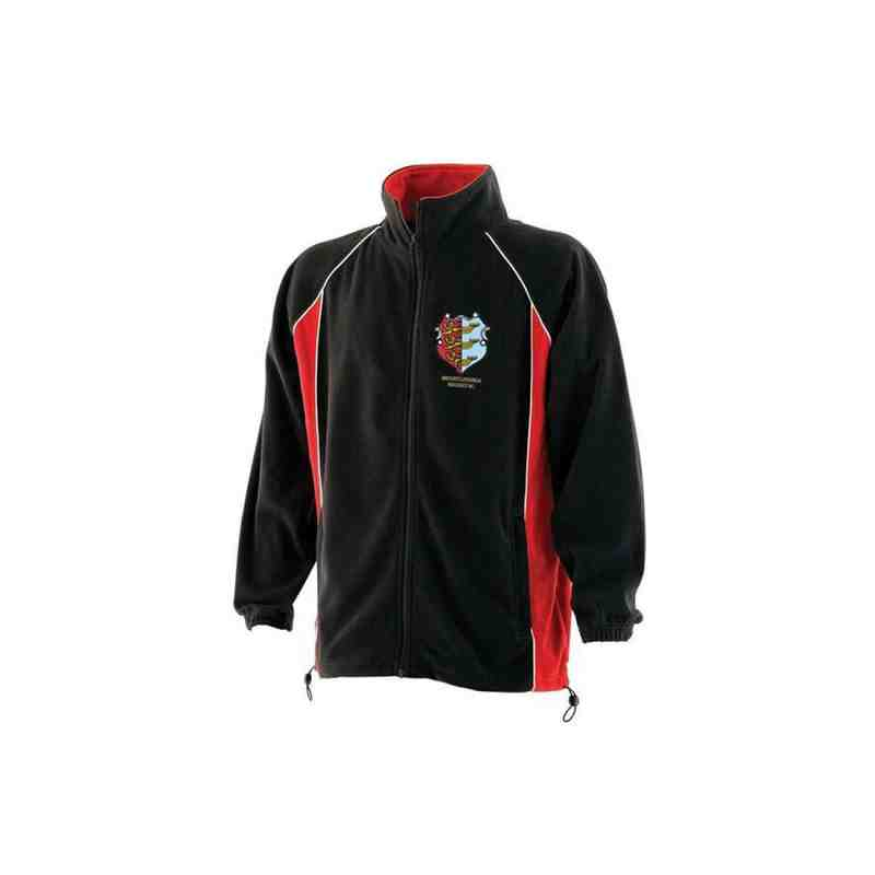 Men's Red/Black Microfleece Jacket