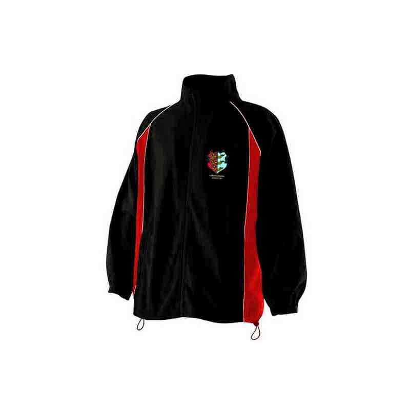 Kids Red/Black Microfleece Jacket