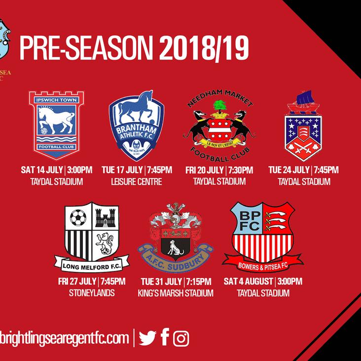 Pre-Season Schedule Confirmed (Updated)