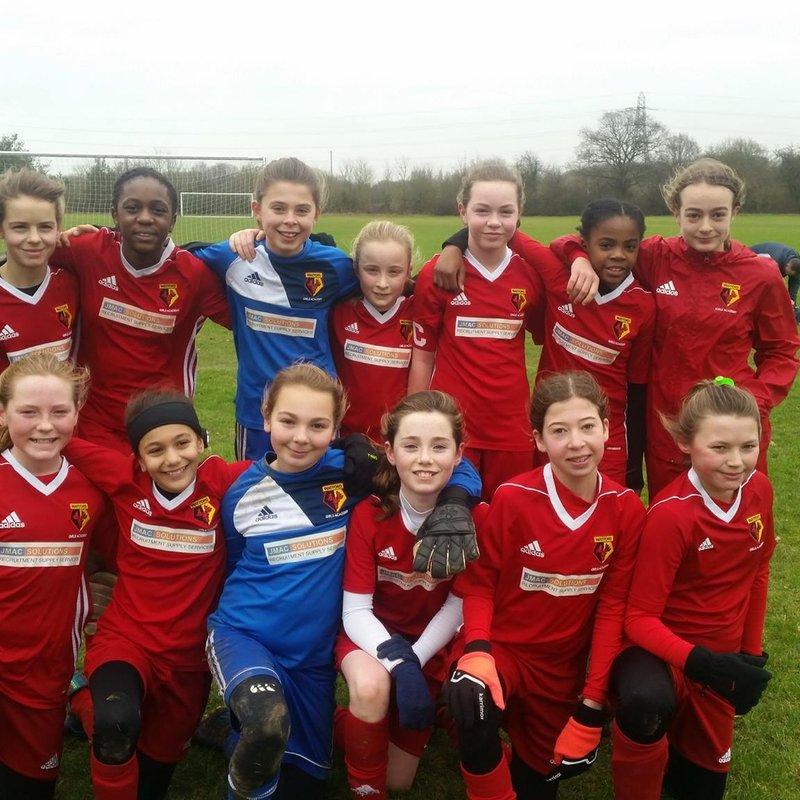 U12 beat Enfield Town Ladies Youth U12 0 - 8