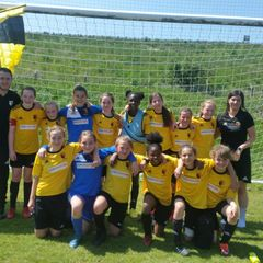 U12 Capital Girls League & Cup winners