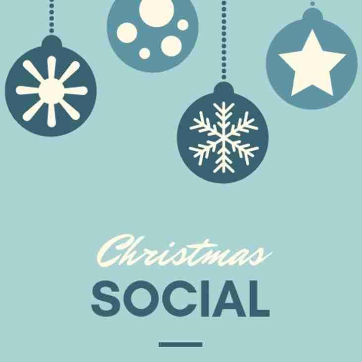 Christmas Social Saturday 8th December