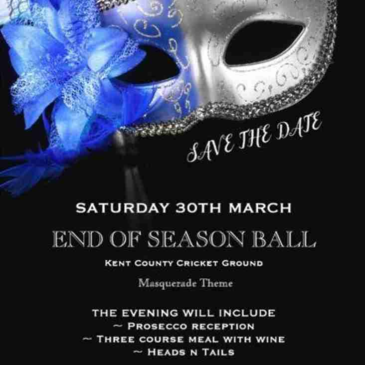 End of Season Dinner Saturday 30th March