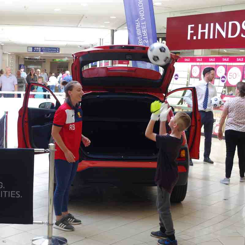 Photos - Working with Hyundai, Banbury - giving out footballs to youngsters