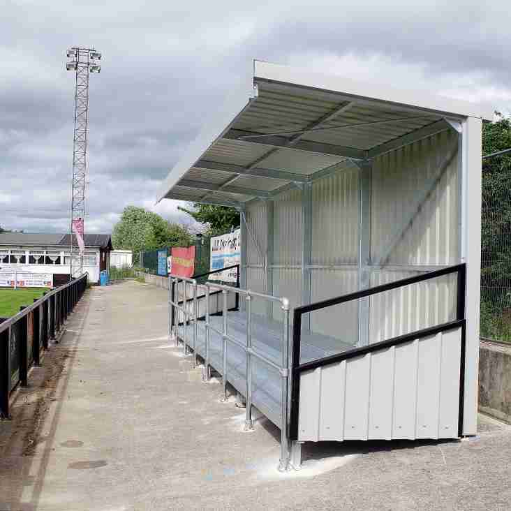 Kings Sutton End Supporters' Shelter Completed