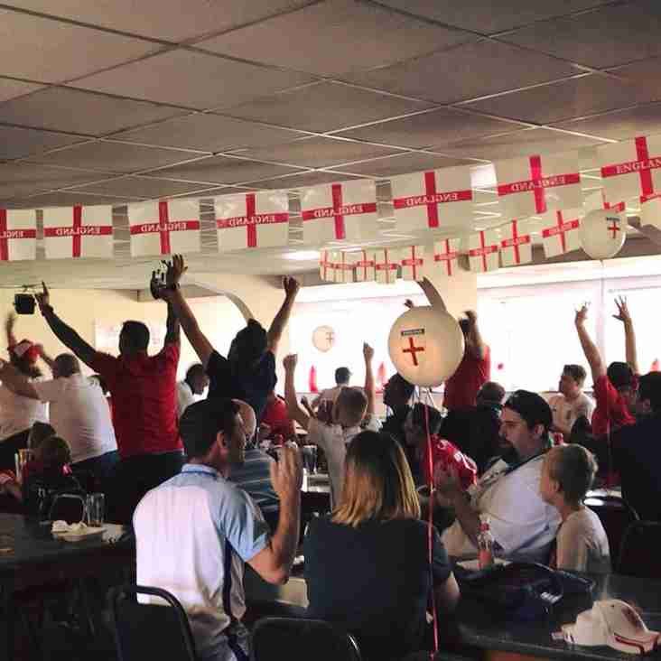 England v Belgium - On Big Screen in Clubhouse 28th June