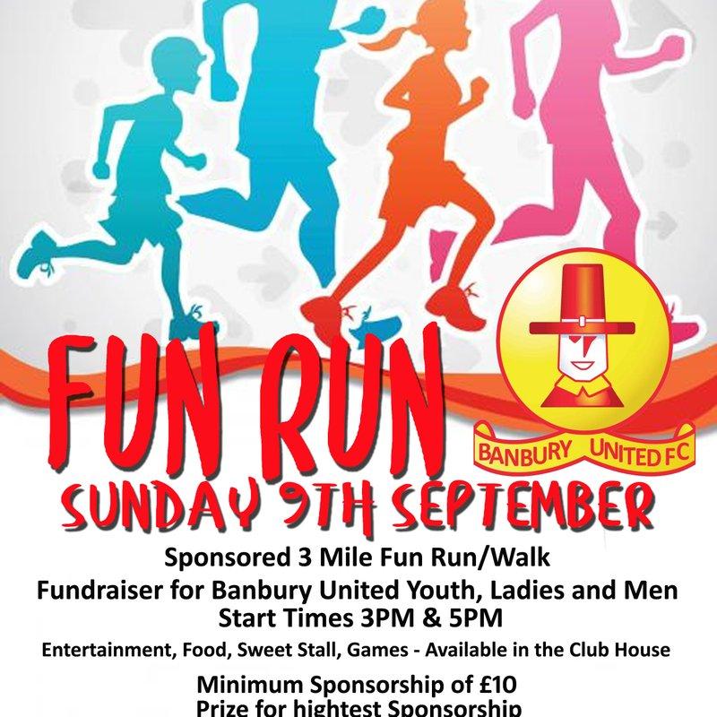 Sponsored 3 Mile Fun Run/Walk