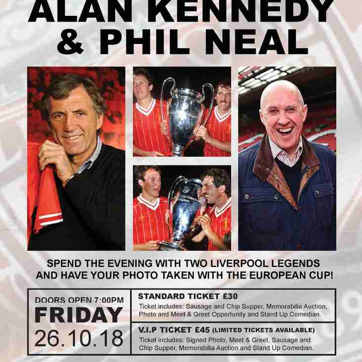 "Sportz Connexions Present ""An Evening with Kop Legends"""