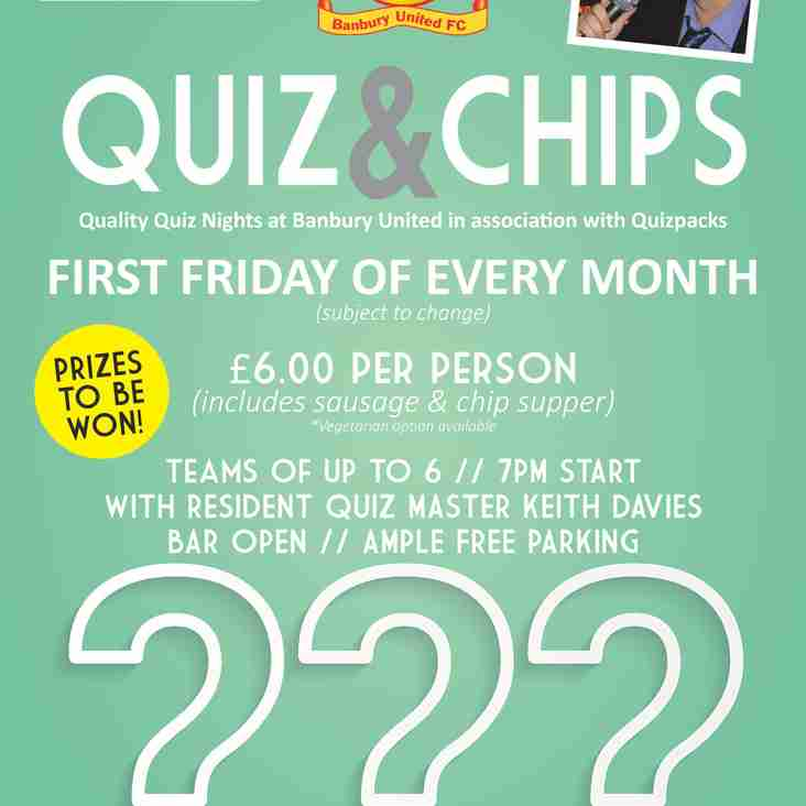 Regular Monthly Quiz Nights in association with Quizpacks