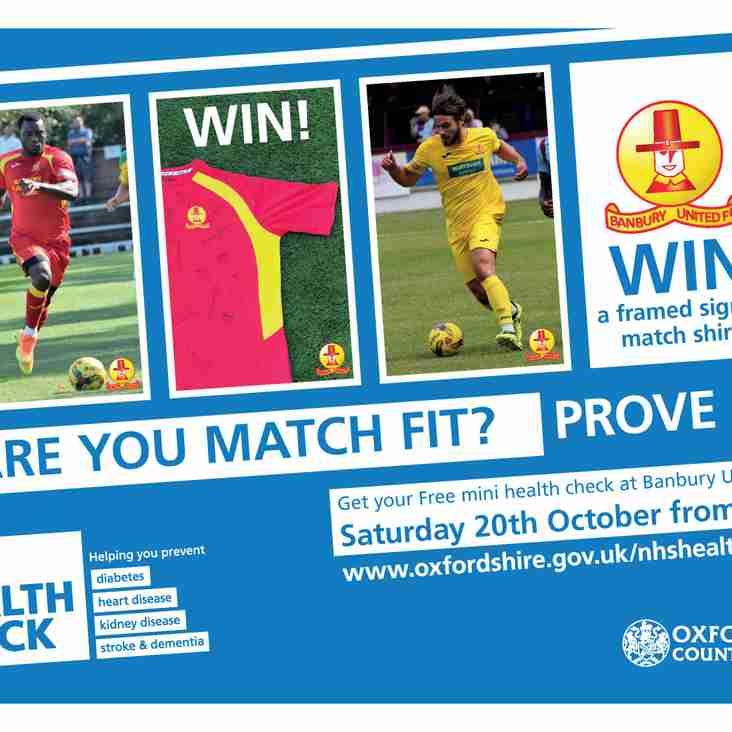 Free Mini NHS Health Check at Banbury United