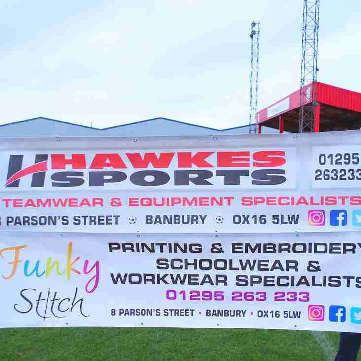 Hawkes Sports and Funky Stitch supporting the club