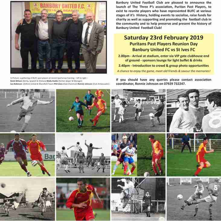 Past Players Reunion Day - Sat 23rd Feb