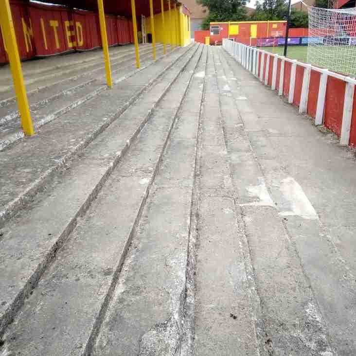 Excellent Work by Volunteers on Stadium Terracing