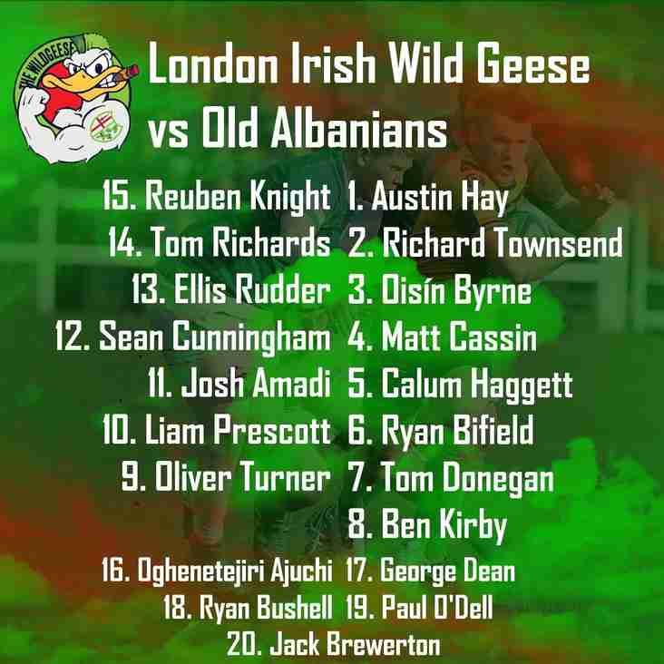 London Irish Wild Geese vs Old Albanians